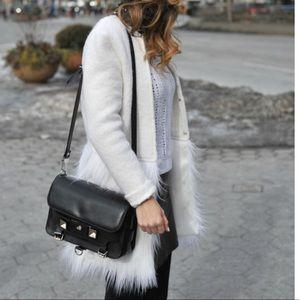 SheInside White Faux Fur Coat
